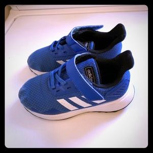 Kid toddler sneakers size 10c adidas royal blue